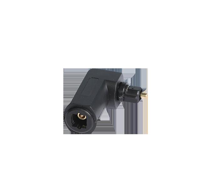4 . FT-2056 数字音频光纤线转接头 90°公母弯头光纤转换头