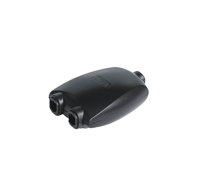 5 . FT-2057 数字音频光纤线转接头 2进1出方口转换器、分配器 音频光纤线一分二