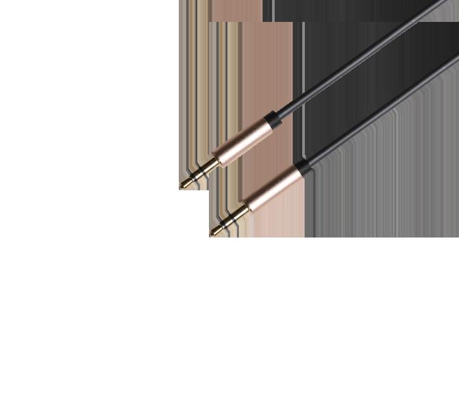 铝壳直头音频线 颜色可定制 3.5mm公对公aux线手机连接汽车用车载音响